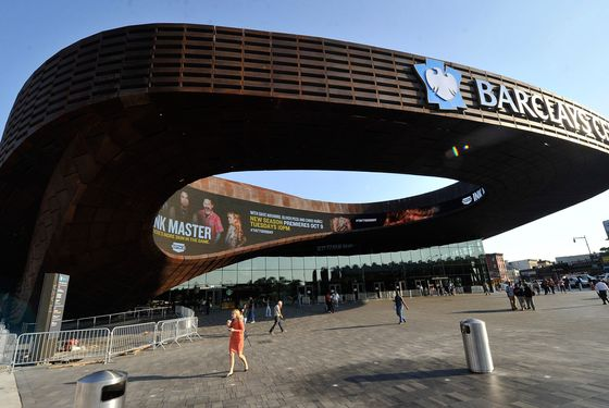 Exterior views of the Barclays Center on October 5, 2012 in the Brooklyn borough of New York City.