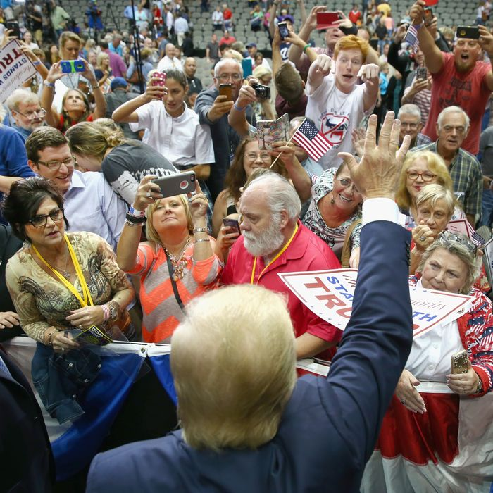 Donald Trump Holds Campaign Rally In Dallas