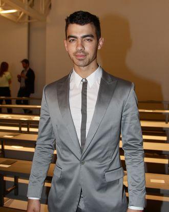Joe Jonas at the Calvin Klein show.