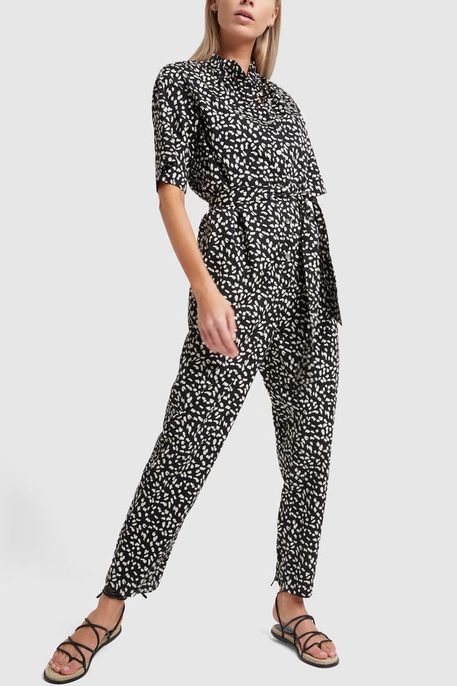 Rebecca Taylor La Vie Short Sleeve Le Jaguar Jumpsuit