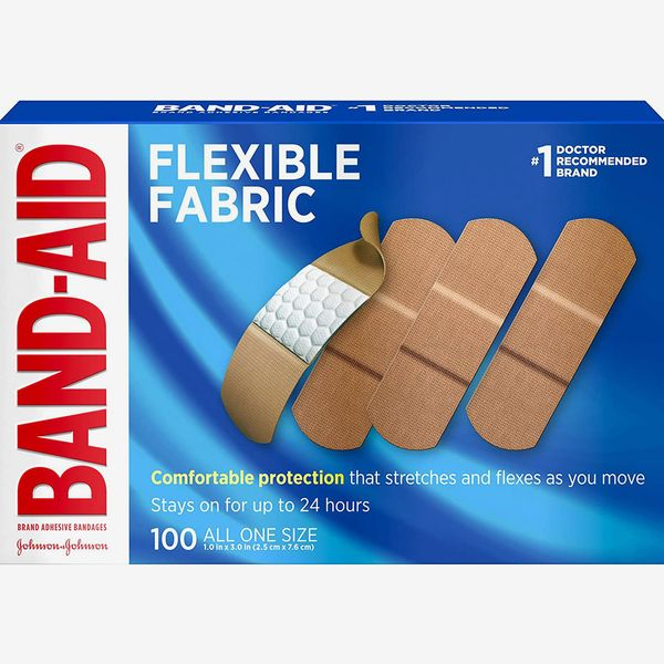 Johnson & Johnson Band-Aid Brand Flexible Fabric Adhesive Bandages for Wound Care and First Aid,100 Count