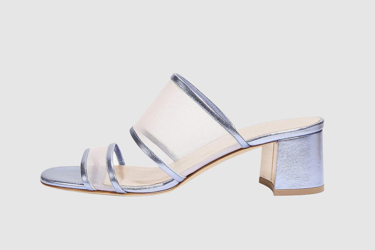 Ayercony Sandal Slides, Woman's Transparent Heels Open Toe Block Heel Mules PVC Mule Shoes for Dress