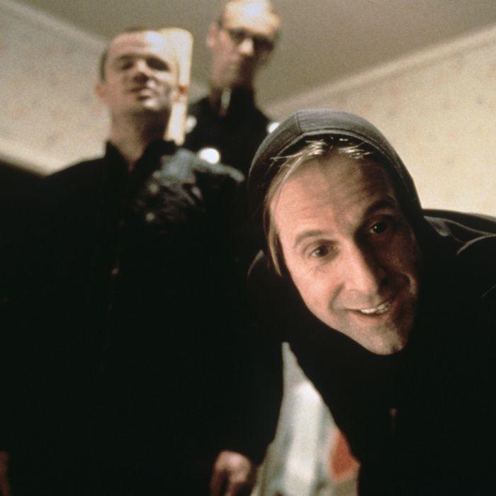 THE BIG LEBOWSKI, Peter Stormare (front), Flea, Torsten Voges (rear), 1998, ? Gramercy Pictures/courtesy Everett Collection
