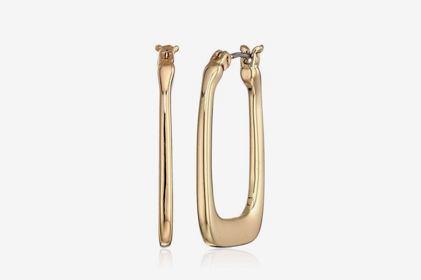 Nine West Women's Gold-Tone Small Geo Hoop Earrings