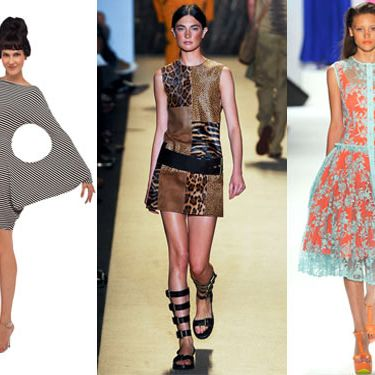 From left: new spring looks from Norma Kamali, Michael Kors, and Nanette Lepore.