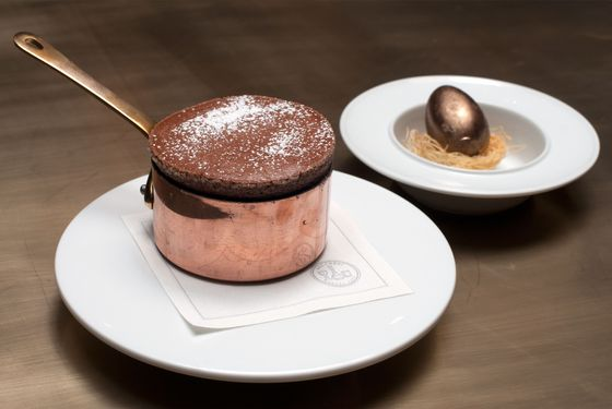 Chocolate soufflé.