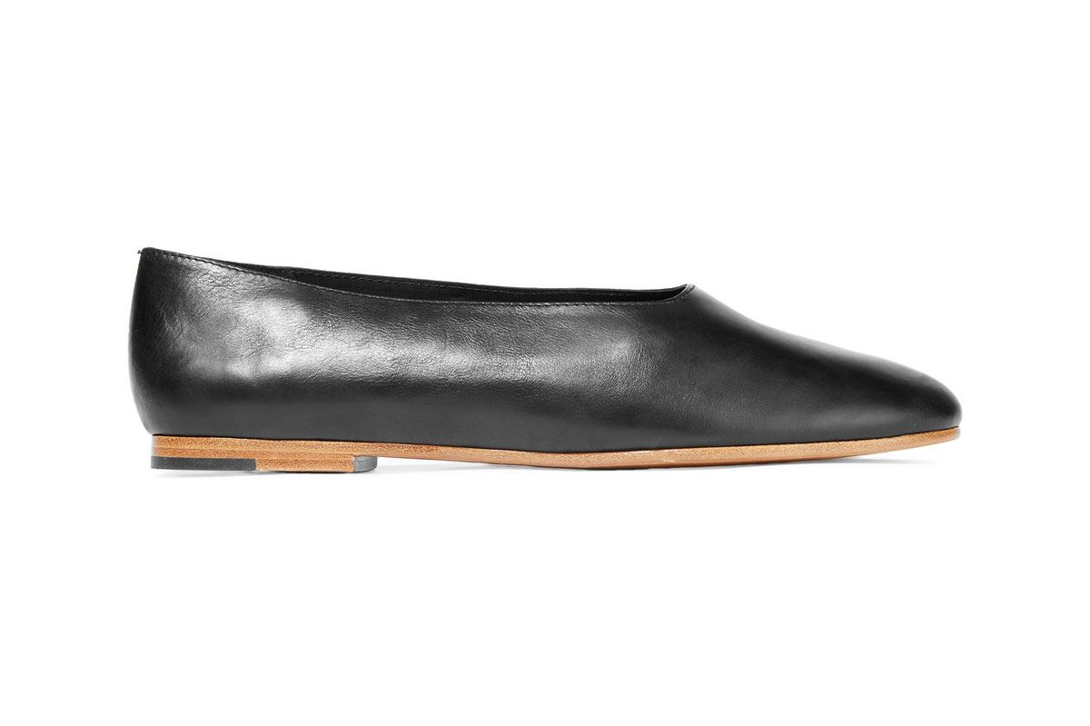 Vince Maxwell Leather Ballet Flats