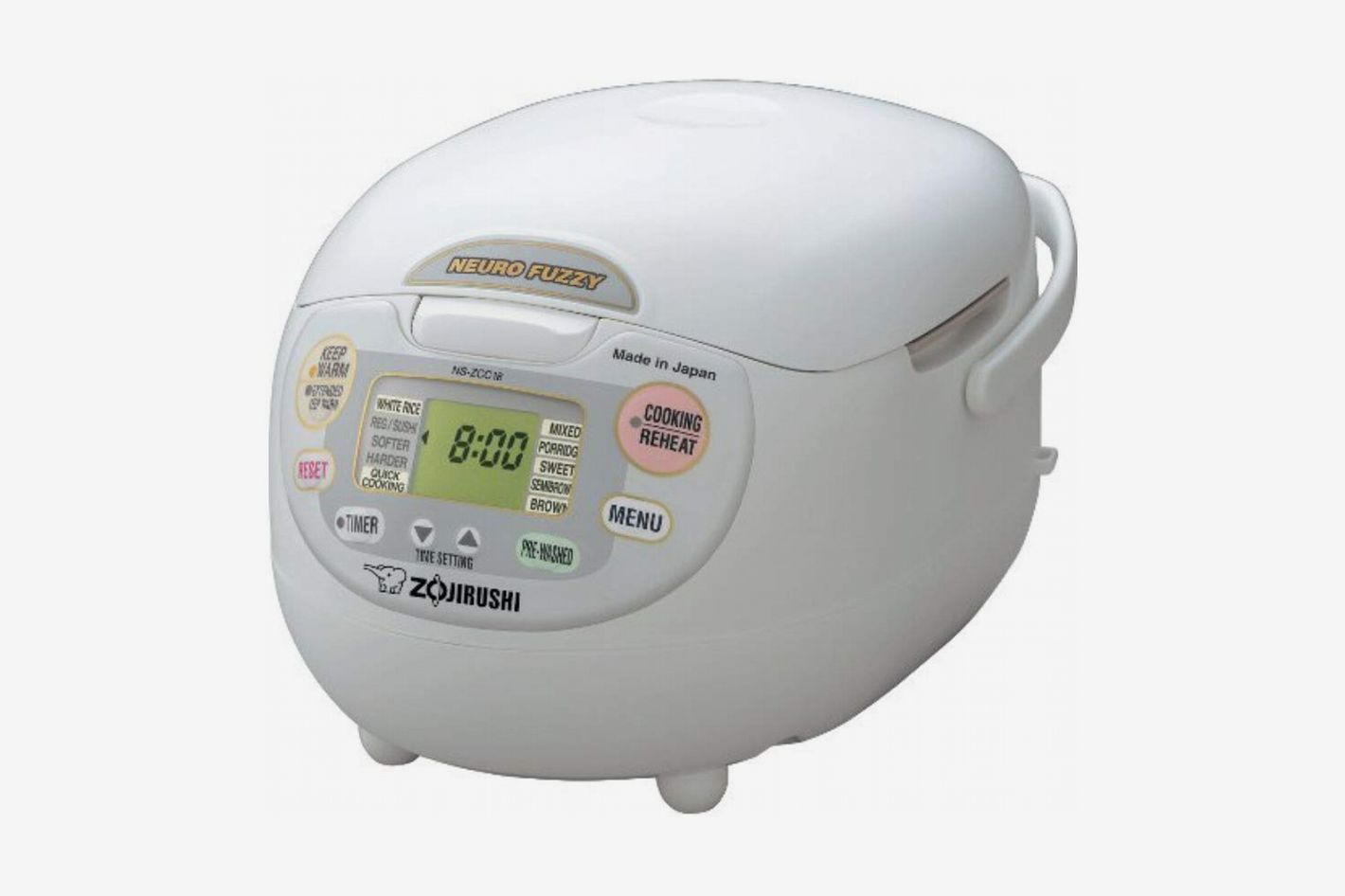 Zojirushi NS-ZCC18 10-Cup Neuro Fuzzy Rice Cooker, 1.8-Liters, Premium White