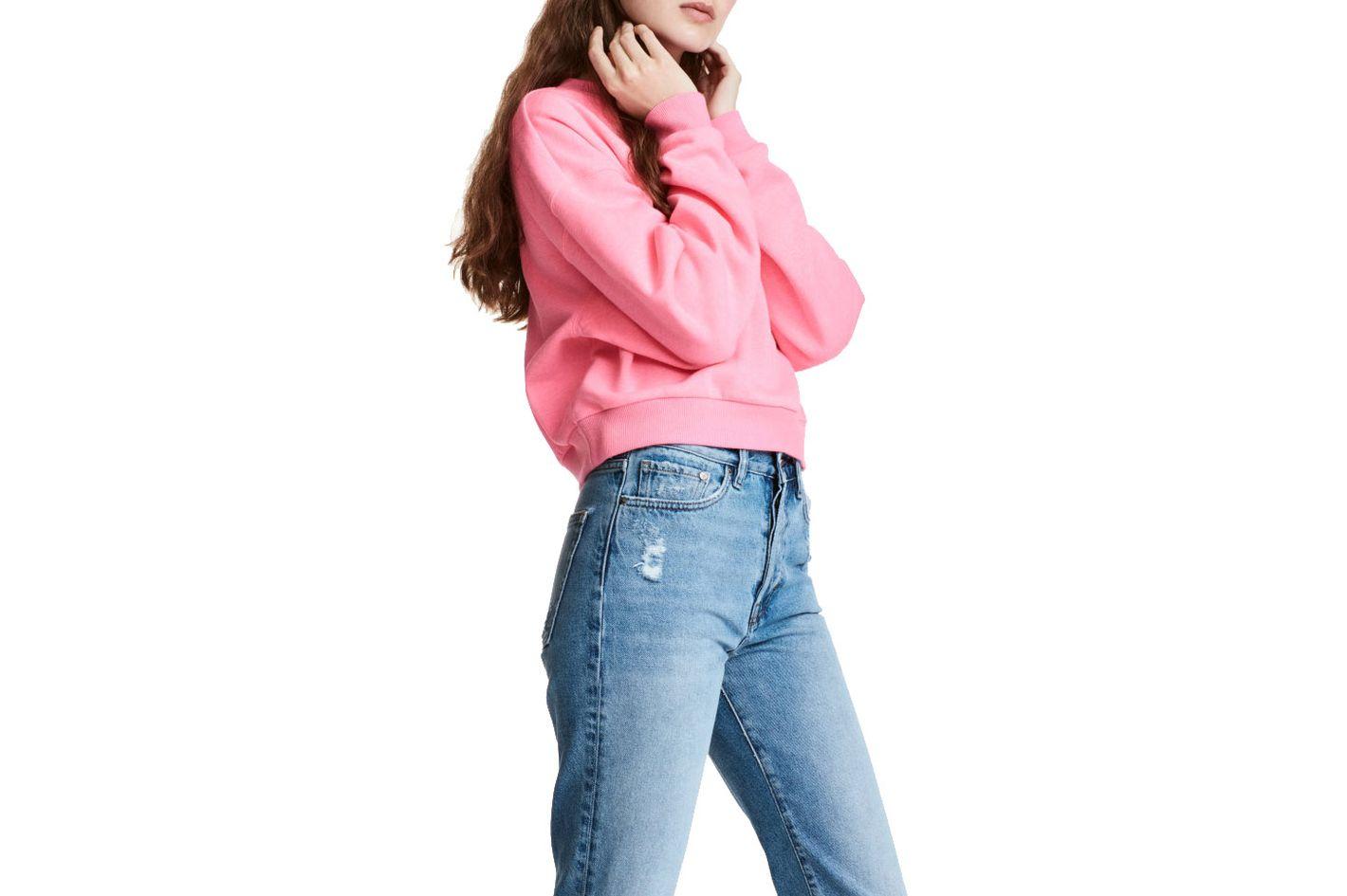 Neon Pink Short Sweatshirt