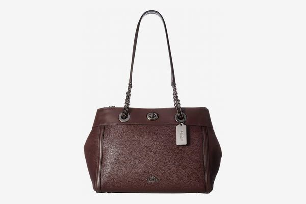 Coach Turnlock Edie Carryall in Mixed Leather
