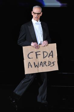 Director John Waters speaks onstage at the 2014 CFDA fashion awards at Alice Tully Hall, Lincoln Center on June 2, 2014 in New York City.