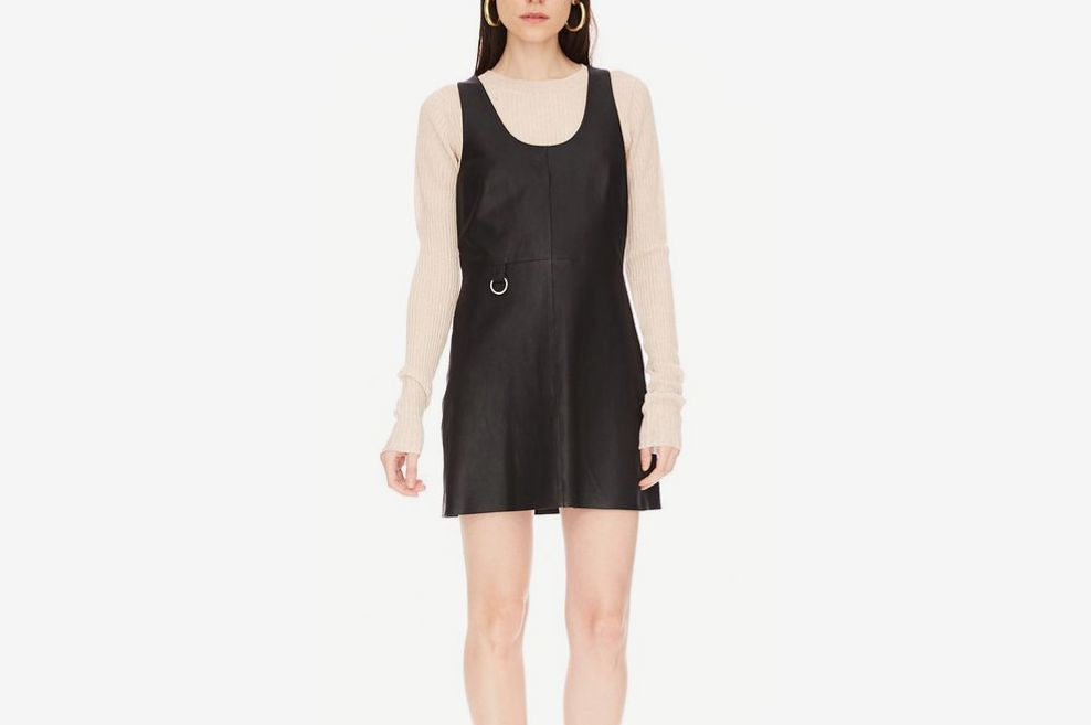 Tempo Leather Dress Black