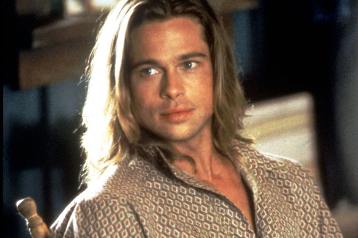 """Yes, you may wrap yourself in my Brad Pitt long hair."""