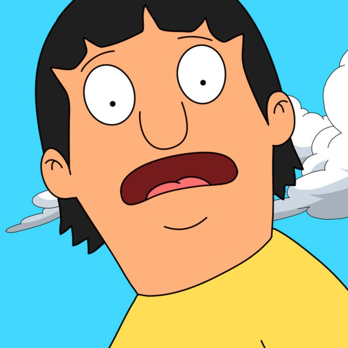 When Gene overhears talk about a mystical creature that lives nearby, he leads the Belcher kids and their friends on a journey to find it in the 'Stand By Gene' episode of BOBÕS BURGERS.