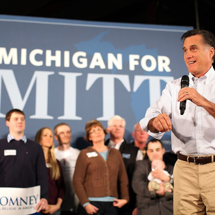 Republican presidential candidate, former Massachusetts Gov. Mitt Romney speaks during a campaign rally