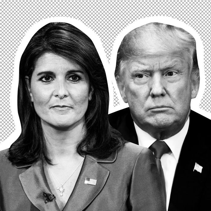 Nikki Haley, Donald Trump.