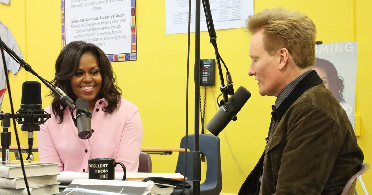 This Week in Comedy Podcasts: Conan O'Brien Chats With Michelle Obama