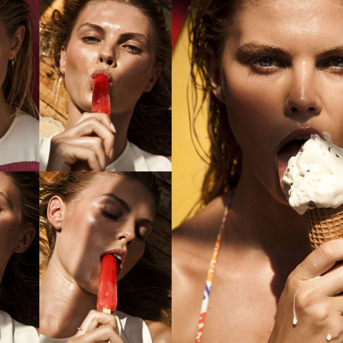 Maryna Linchuk shot by Victor Demarchelier for 25 magazine.
