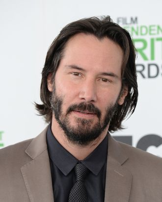 SANTA MONICA, CA - MARCH 01: Keanu Reeves attends the 2014 Film Independent Spirit Awards on March 1, 2014 in Santa Monica, California. (Photo by Jeff Kravitz/FilmMagic)