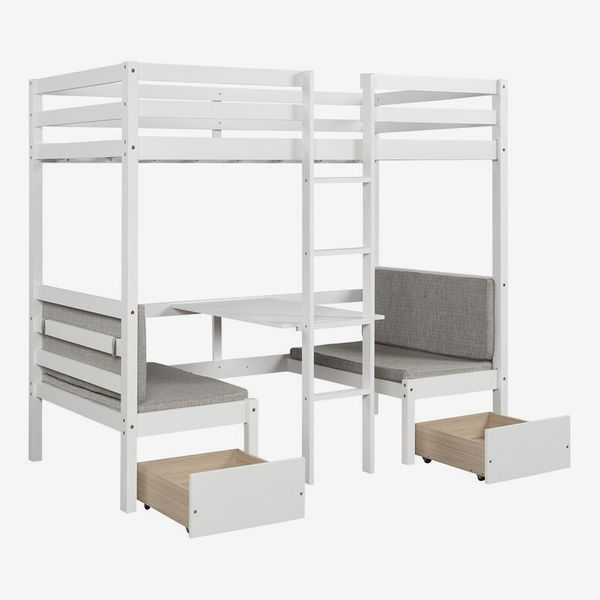 Isabelle & Max Bain Twin Loft Bed with Desk and Drawers