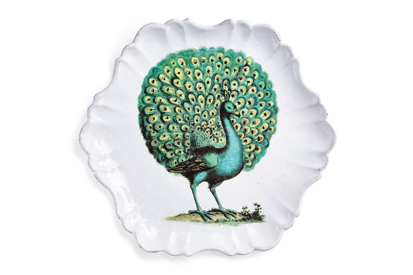 John Derian for Astier de Villatte Peacock Plate