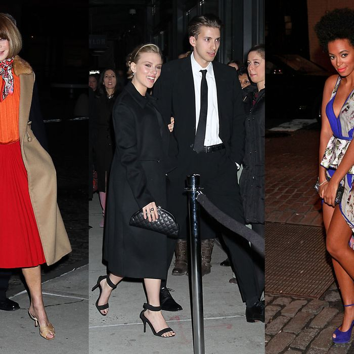 Anna Wintour, Scarlett Johansson, and Solange Knowles.