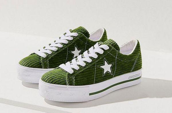 Converse One Star X MadeMe Corduroy Platform Sneaker