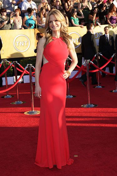 Celebrities arriving at the Screen Actors Guild Awards 2012 held at the Shrine Auditorium in Los Angeles, CA. <P> Pictured: Kyra Sedgwick <P><B>Ref: SPL355291  290112  </B><BR/> Picture by: Nate Beckett / Splash News<BR/> </P><P> <B>Splash News and Pictures</B><BR/> Los Angeles:310-821-2666<BR/> New York:212-619-2666<BR/> London:870-934-2666<BR/> photodesk@splashnews.com<BR/> </P>