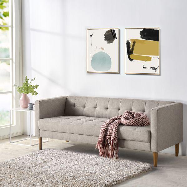 Zinus Pascal Sofa, Oatmeal Grey