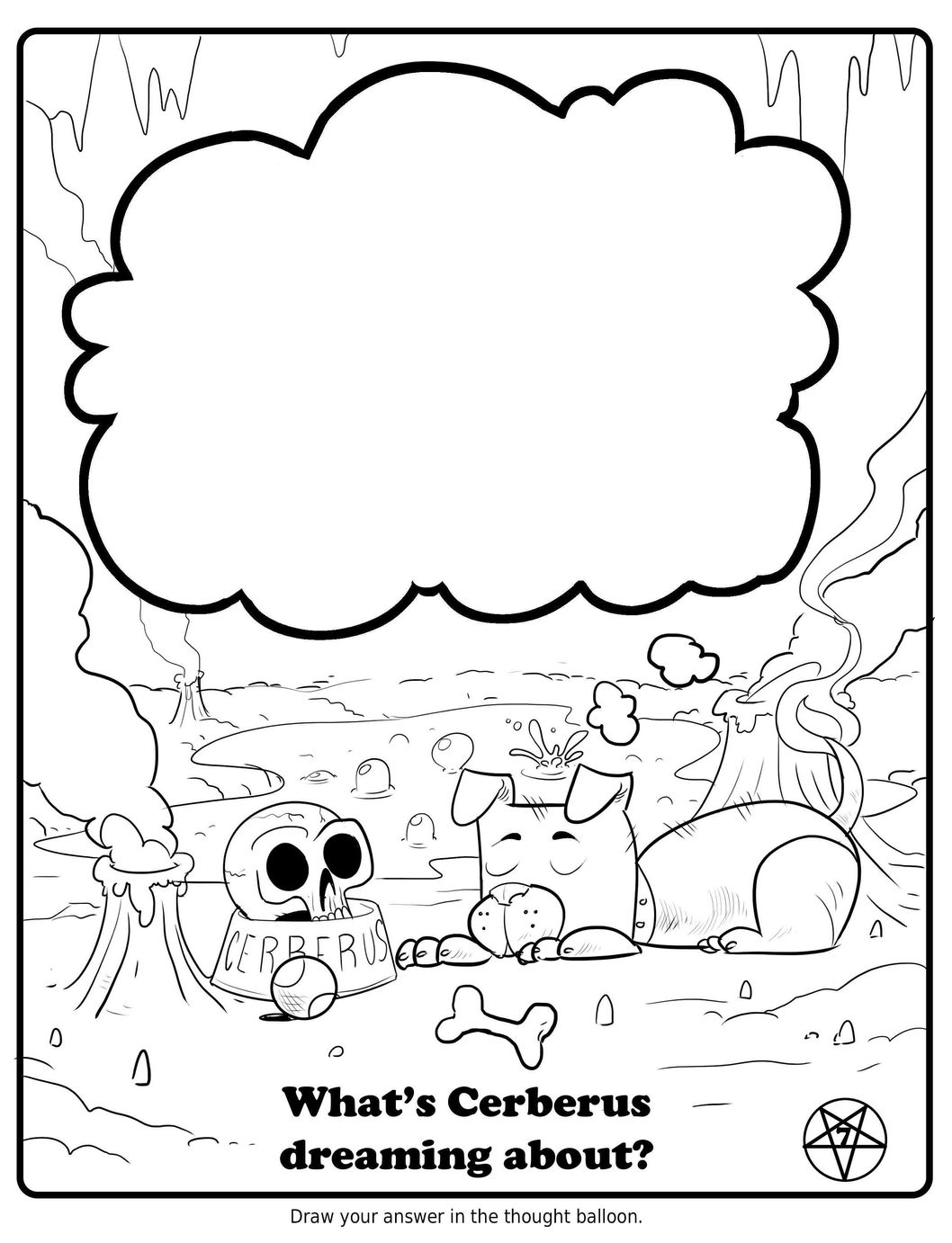 free satanic coloring pages - photo#21