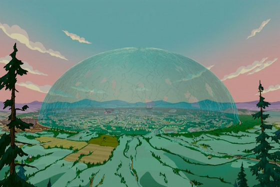 Comparing Under The Dome And The Simpsons Movies Domes