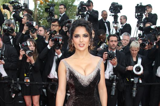 CANNES, FRANCE - MAY 18: Salma Hayek attends the 'Madagascar 3: Europe's Most Wanted' Premiere during the 65th Annual Cannes Film Festival at Palais des Festivals on May 18, 2012 in Cannes, France. (Photo by Eric Ryan/Getty Images)