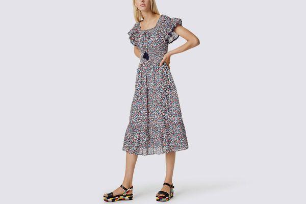 Tory Burch Wildflower Smocked Dress