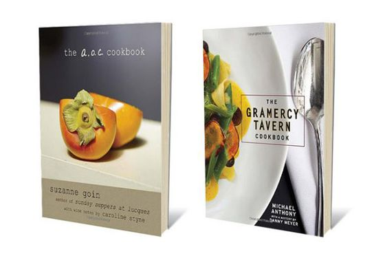 "The long-awaited cookbooks from Michael Anthony and Suzanne Goin both offer recipes that are upscale versions of familiar dishes that nudge home cooks to try their hand at something more ambitious. Together, the books offer a bicoastal look at how two of the country's best chefs approach their rightly celebrated food. <a href=""http://www.amazon.com/The-A-O-C-Cookbook-Suzanne-Goin/dp/030795823X""><i>The A.O.C Cookbook</i></a>, $22.14; <a href=""http://www.amazon.com/Gramercy-Tavern-Cookbook-Michael-Anthony/dp/0307888339""><i>The Gramercy Tavern Cookbook</i></a>, $30"