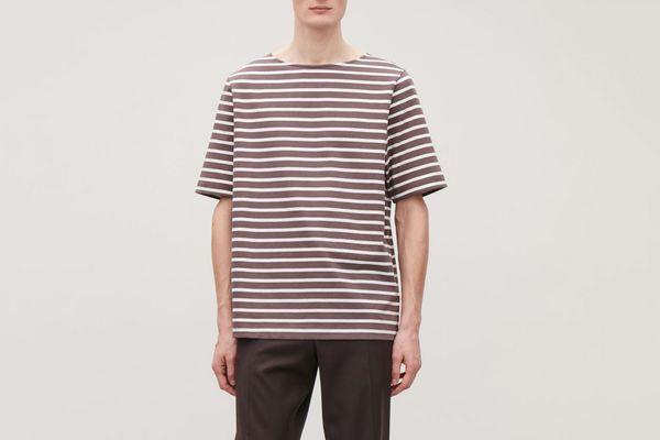 COS Cotton Breton-Striped T-Shirt