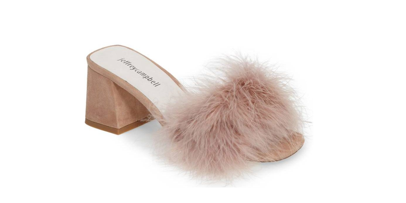 Jeffrey Campbell Feather Mules