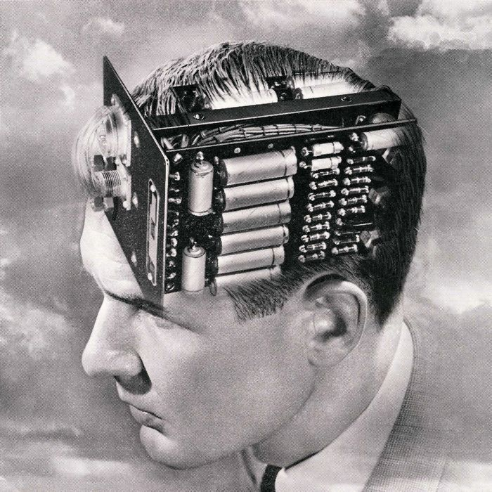 Man With Circuit Board Brain