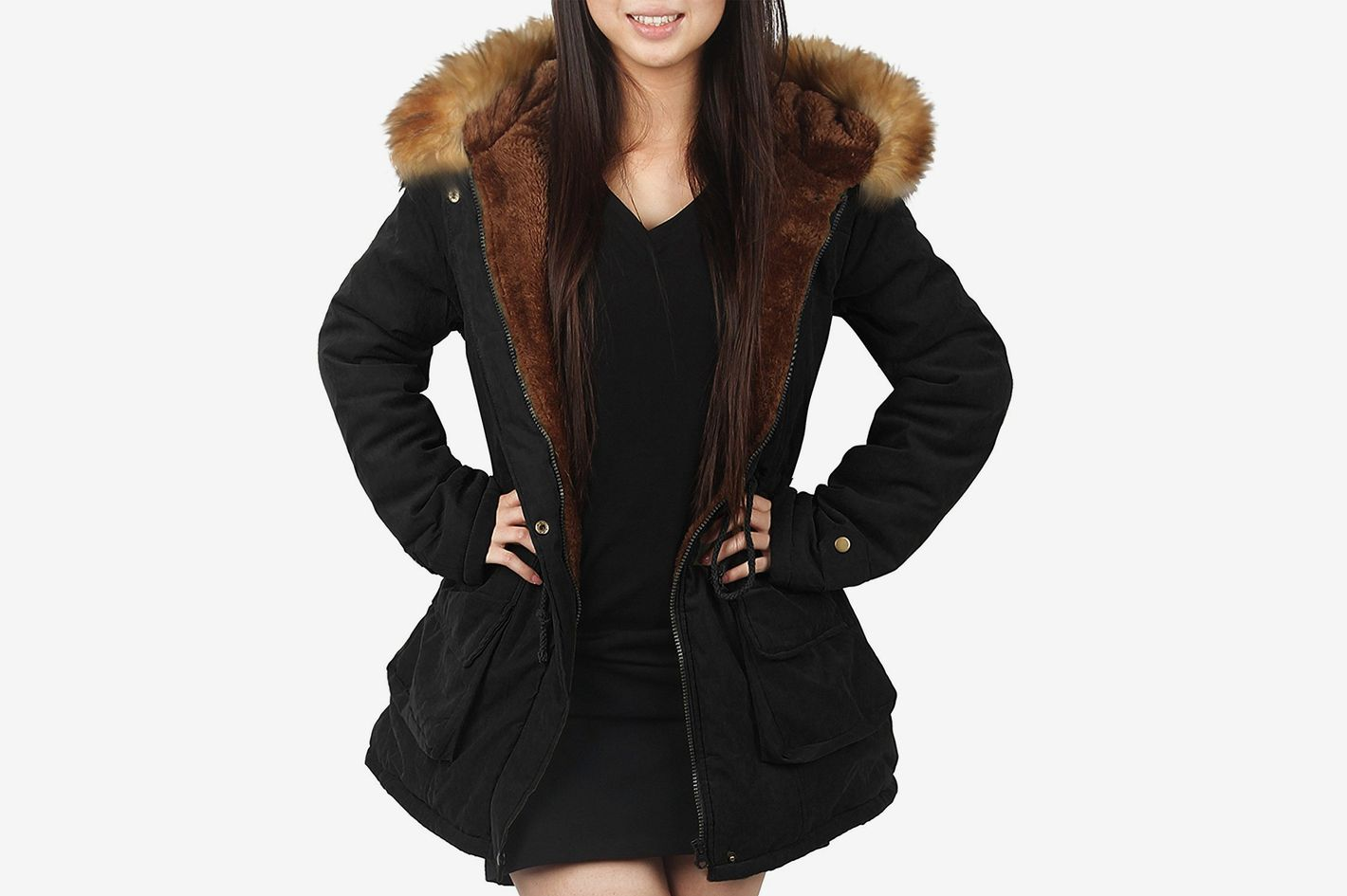 4a0c5793b8d0 iLoveSIA Womens Hooded Warm Parka with Faux Fur