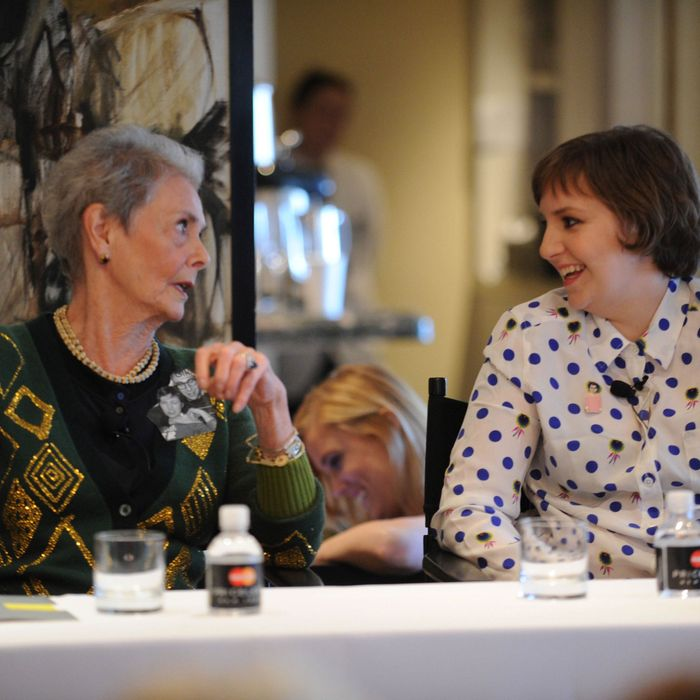 Betty Halbreich and Lena Dunham.