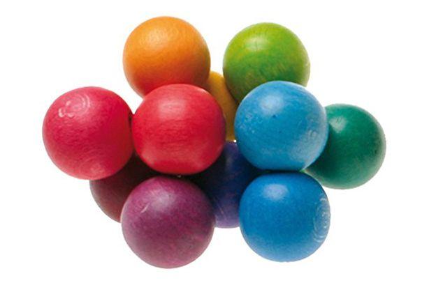 Grimm's Beads Grasper — Wooden Baby Rattle Toy
