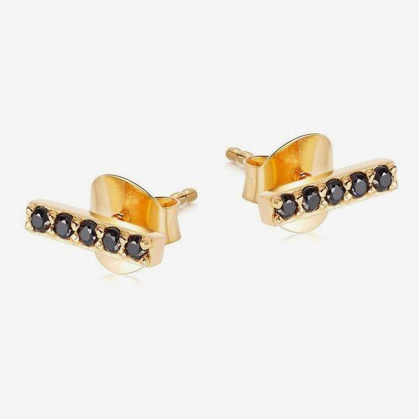 Missoma Pave Bar Stud Earrings