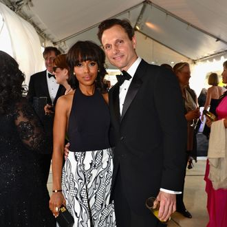 WASHINGTON, DC - APRIL 27: Kerry Washington and Tony Goldwyn attend ABC News, Yahoo! News, Univision Pre-White House Correspondents Dinner cocktail reception at Washington Hilton on April 27, 2013 in Washington, DC. (Photo by Leigh Vogel/Getty Images for Yahoo! News)