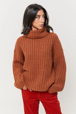 J.O.A. Oversized Turtleneck Sweater
