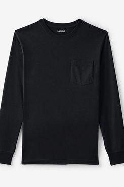 Lands' End Men's Long Sleeve Super-T Shirt