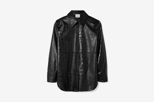 Nanushka Vegan Faux Leather Shirt