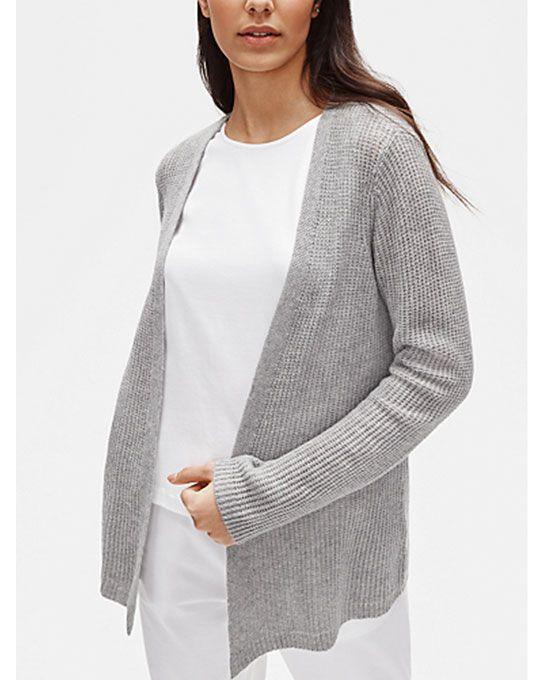 Italian Cashmere Straight Cardigan