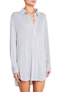Eberjey Nordic Stripe Boyfriend Sleep Shirt