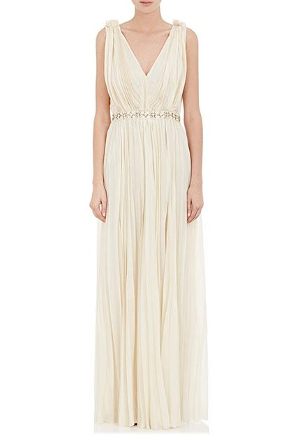 Lanvin Pleated Wedding Gown