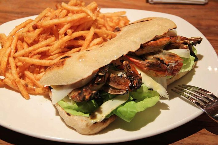 Cull & Pistol's sandwich is grilled, not fried.