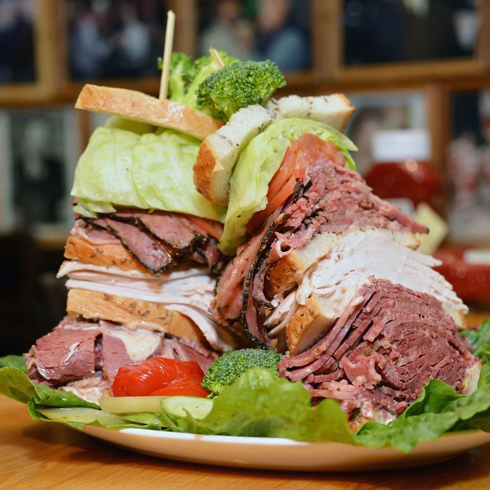 What qualifies as a light snack at the Carnegie deli.
